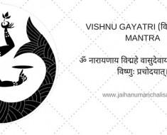 VISHNU GAYATRI mantra in hindi (विष्णु गायत्री)