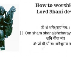 How to worship Lord Shani dev