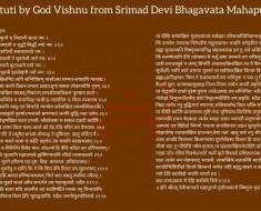 Devi Stuti by God Vishnu from Srimad Devi Bhagavata Mahapurana