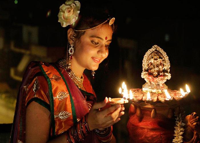Diwali celebration in south india